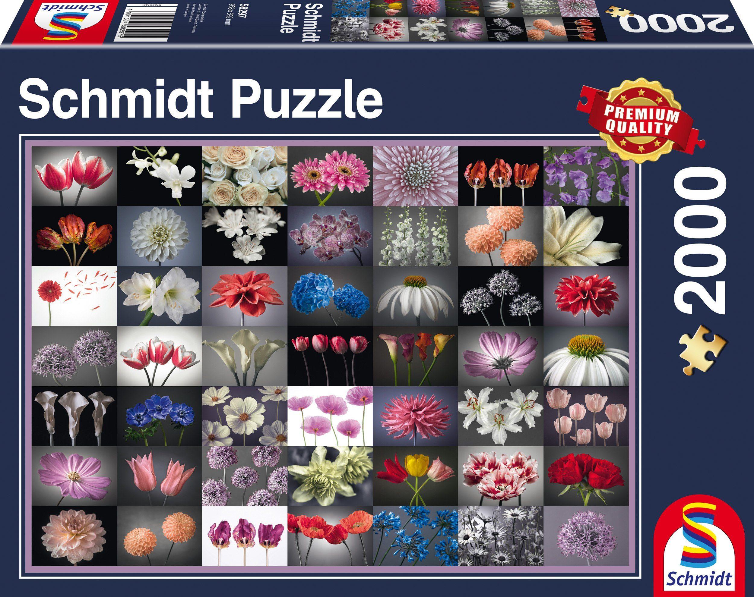 Schmidt Spiele Puzzle mit 2000 Teilen, »Blumengruß«