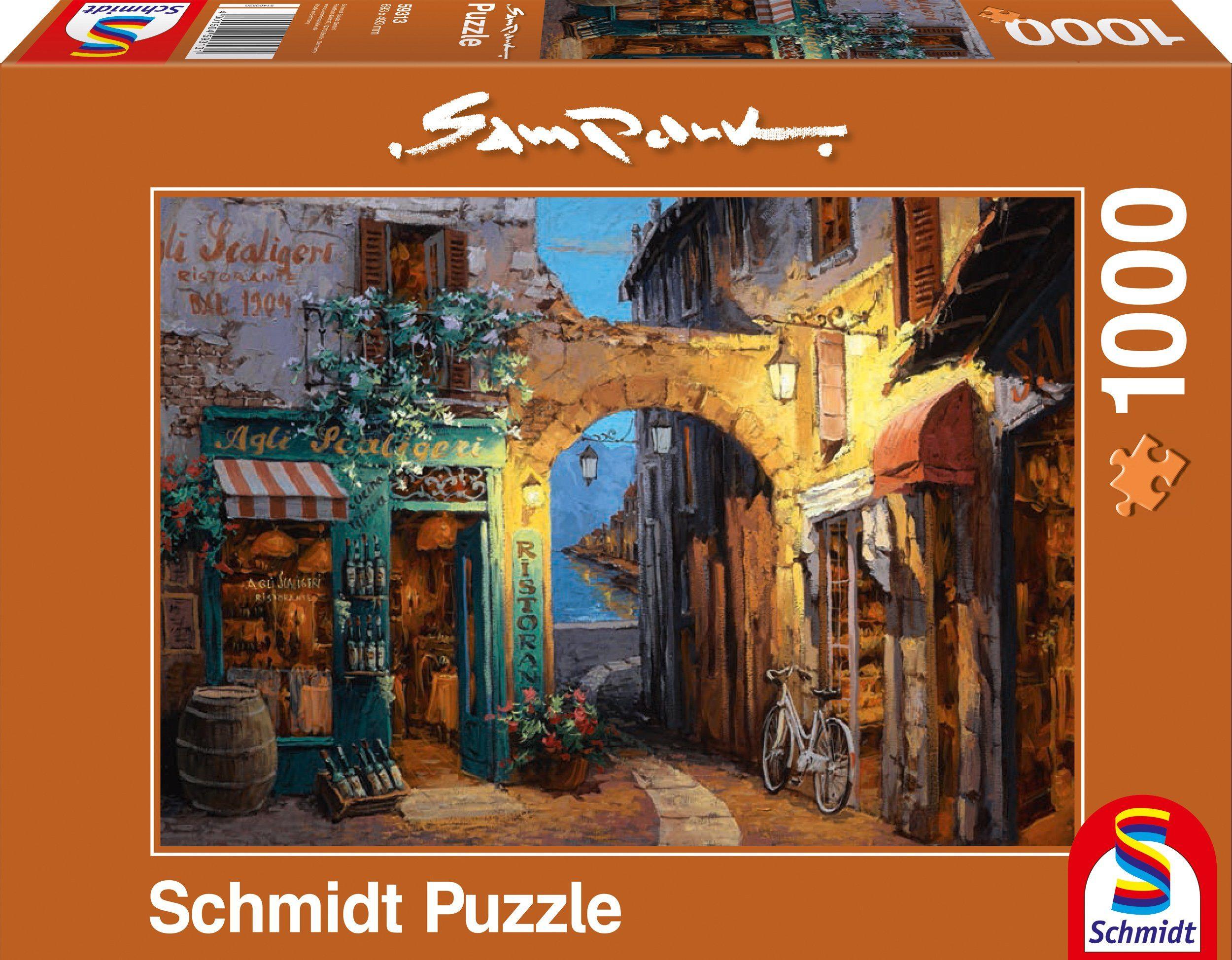 Schmidt Spiele Puzzle mit 1000 Teilen, »Gässchen am Comer See«