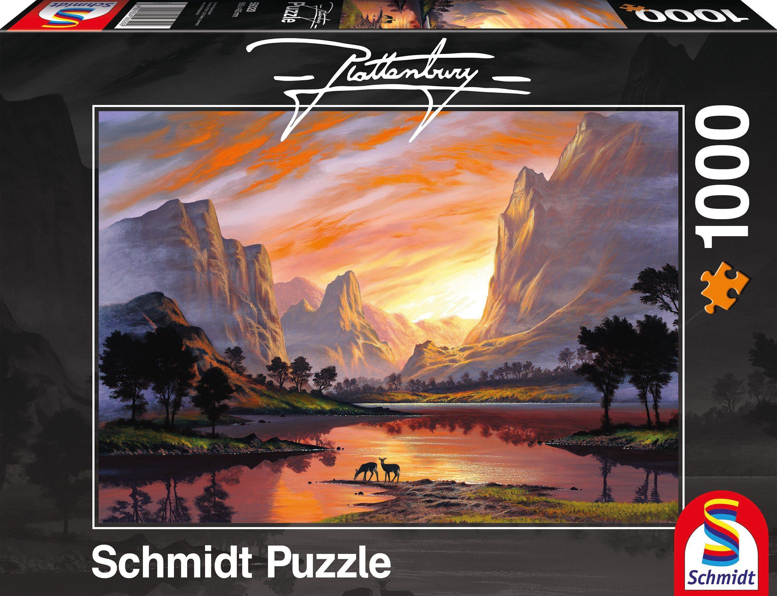 Schmidt Spiele Puzzle mit 1000 Teilen, »Tal im goldenen Licht«