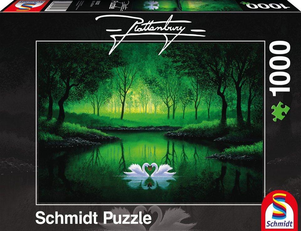Schmidt Spiele Puzzle mit 1000 Teilen, »Schwanenpaar«