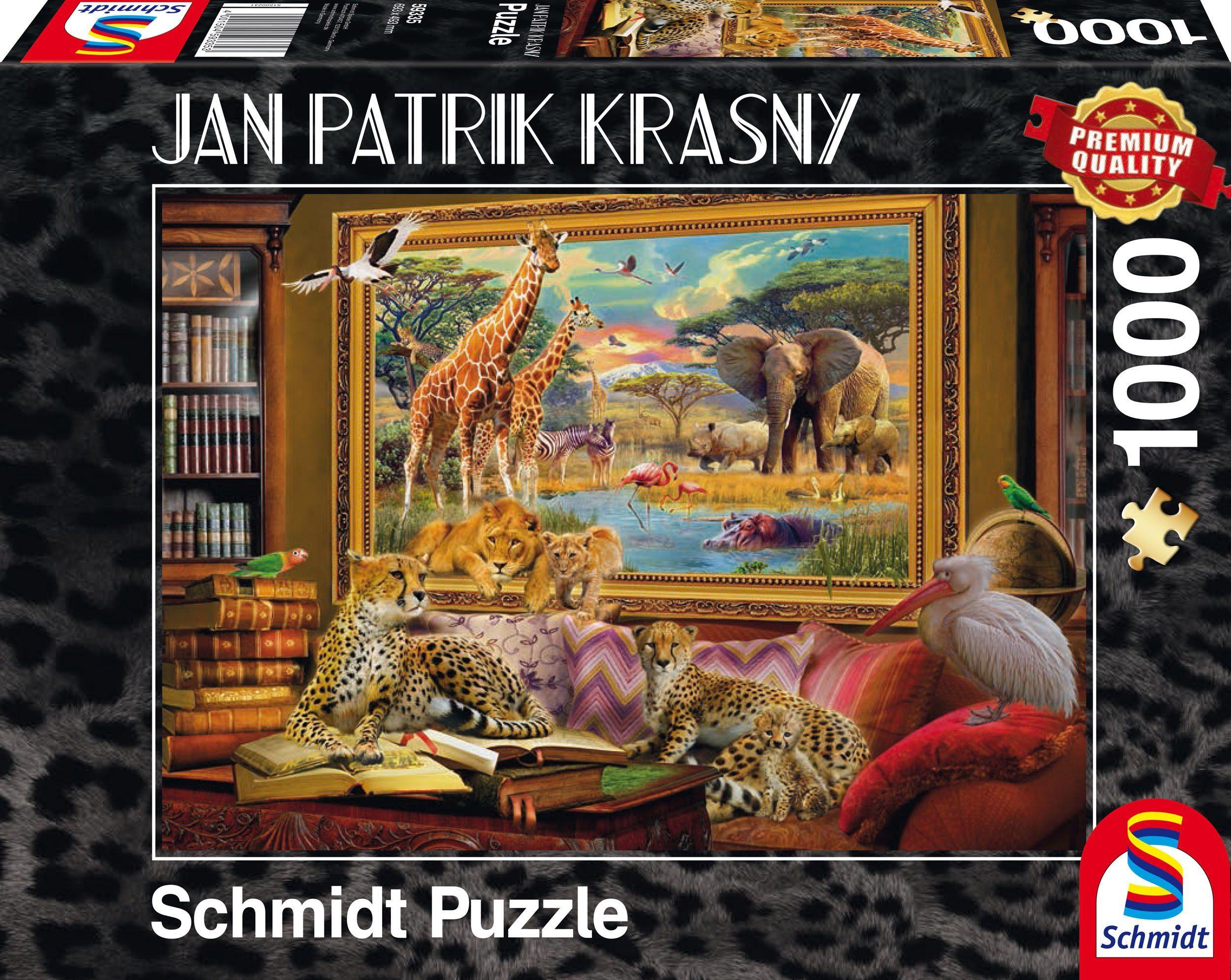 Schmidt Spiele Puzzle mit 1000 Teilen, »Die Savanne, Zum Leben erwacht«
