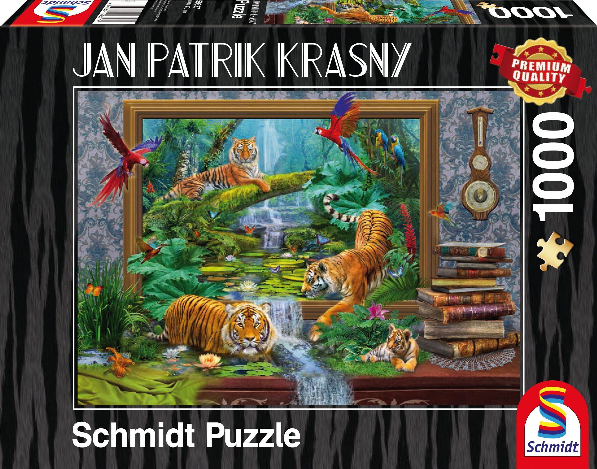 Schmidt Spiele Puzzle mit 1000 Teilen, »Tiger im Dschungel, Zum Leben erwacht«