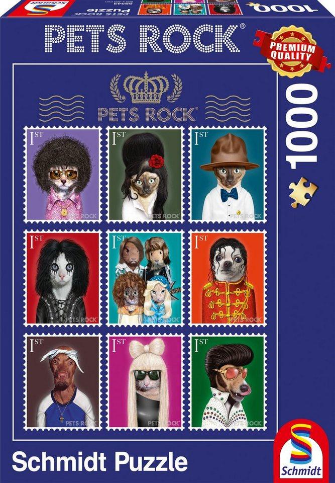 Schmidt Spiele Puzzle mit 1000 Teilen, »Pets Rock®, Musik«