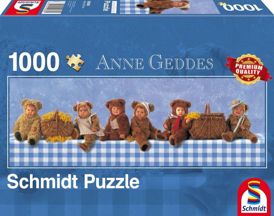 Schmidt Spiele Panoramapuzzle mit 1000 Teilen, »Anne Geddes, Teddybären Picknick«