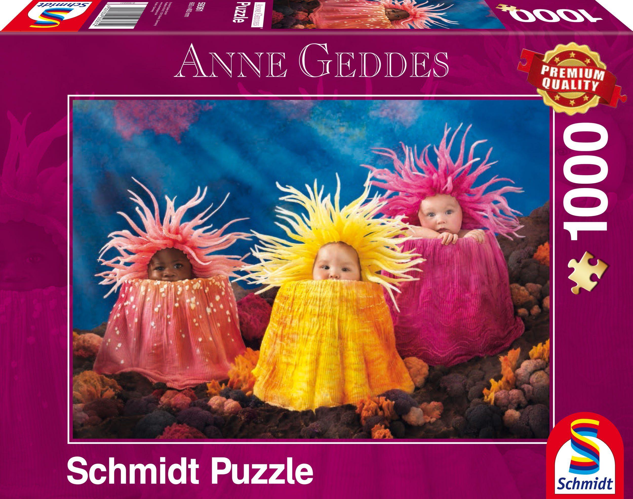 Schmidt Spiele Puzzle mit 1000 Teilen, »Anne Geddes, Kleine Meeresschätze«
