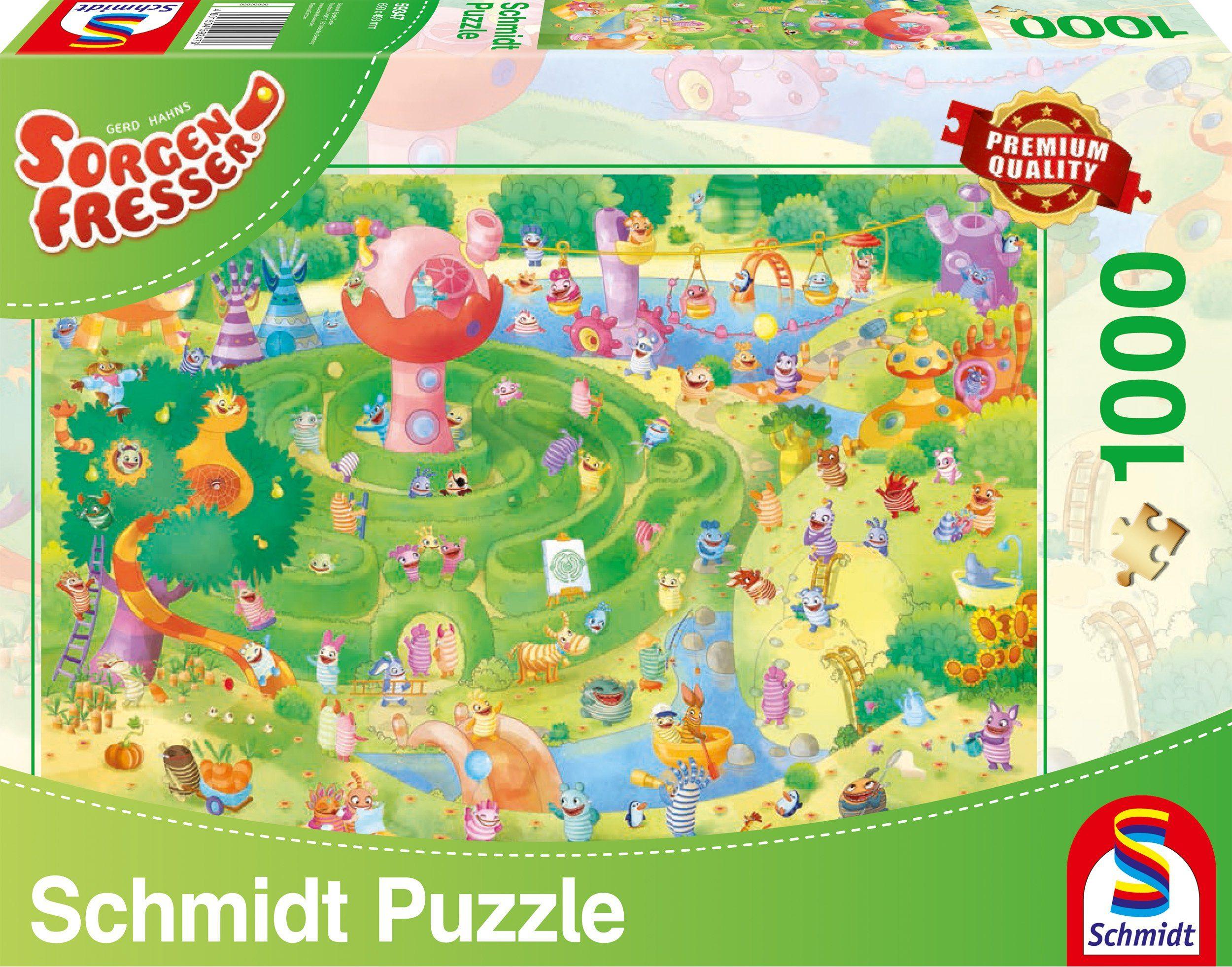 Schmidt Spiele Puzzle mit 1000 Teilen, »Sorgenfresser, Im Labyrinth«
