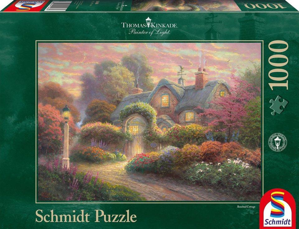 Schmidt Spiele Puzzle mit 1000 Teilen, »Cottage im Rosengarten«