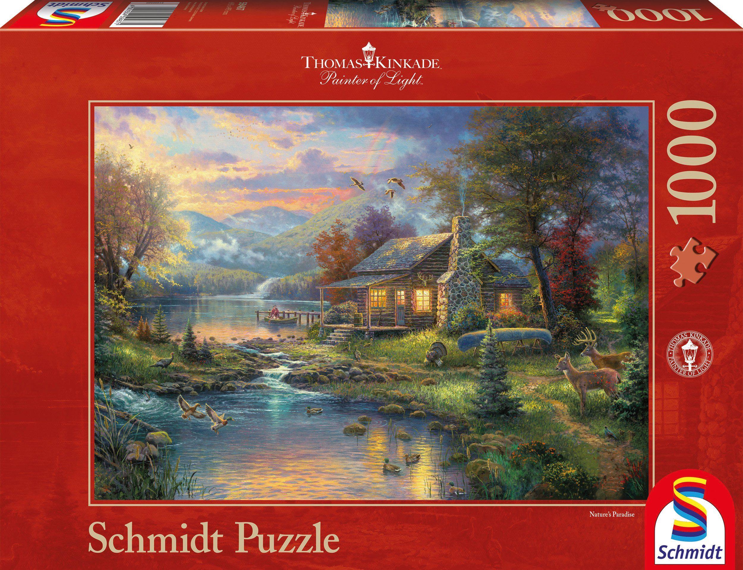 Schmidt Spiele Puzzle mit 1000 Teilen, »Im Naturparadies«
