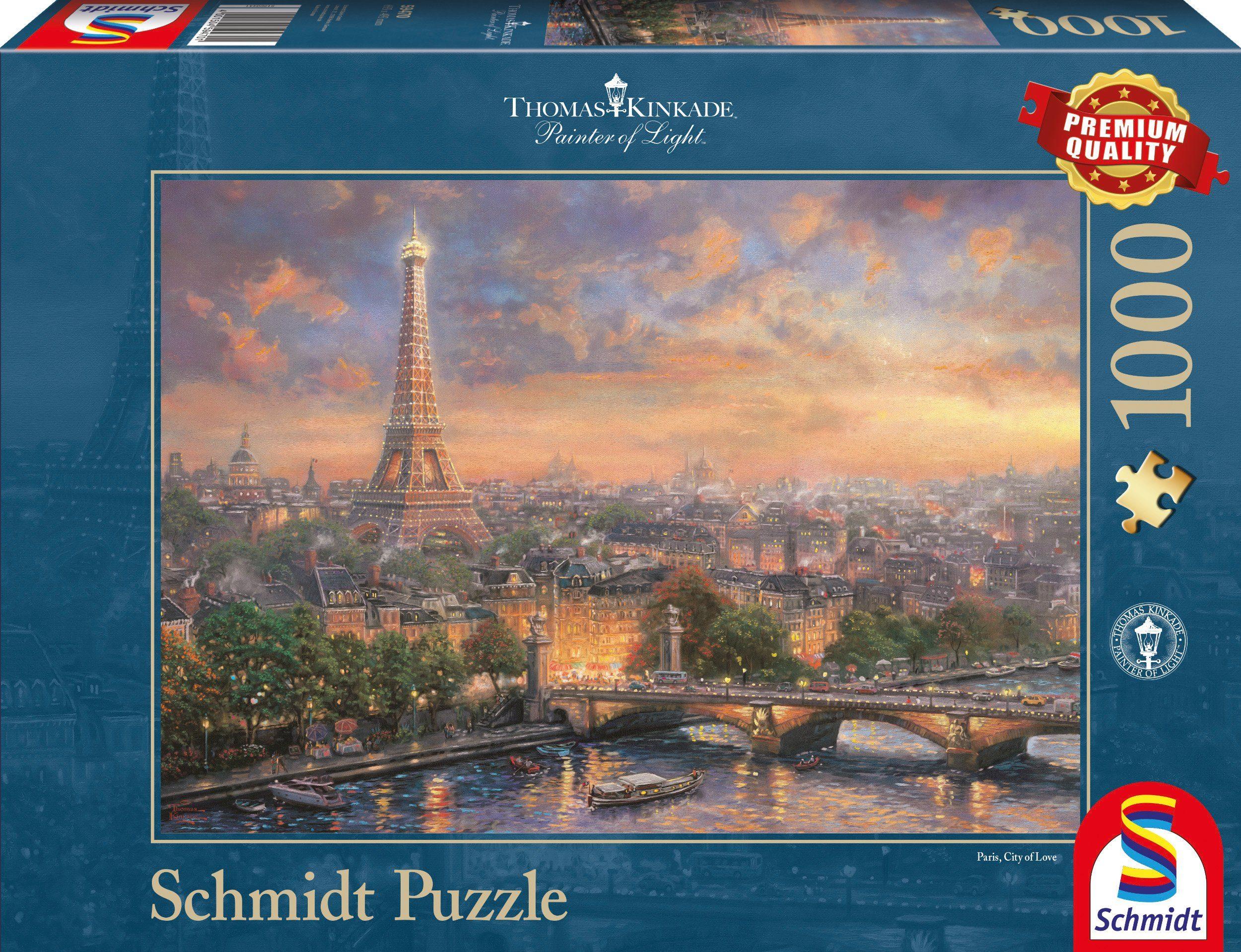 Schmidt Spiele Puzzle mit 1000 Teilen, »Paris, Stadt der Liebe«