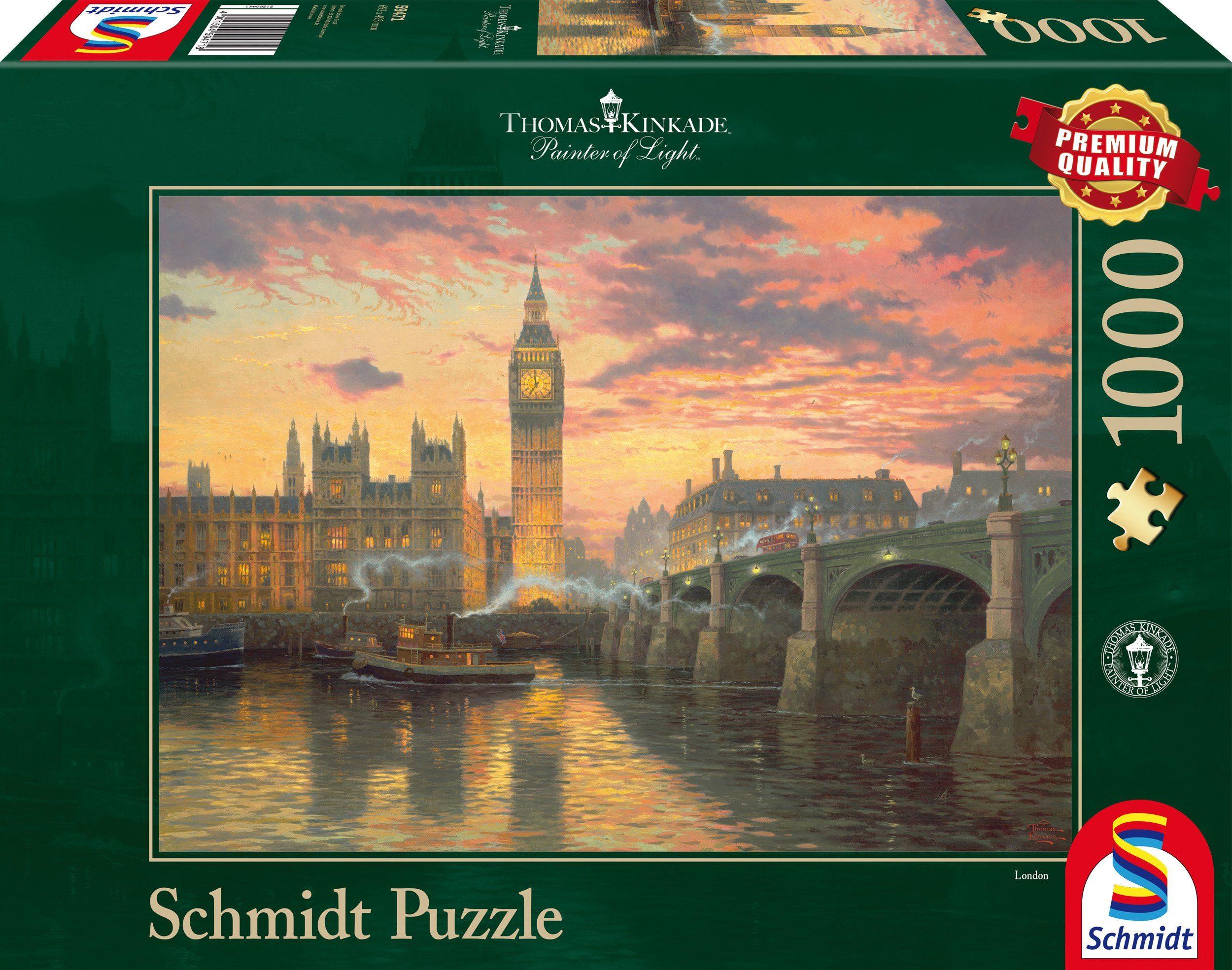 Schmidt Spiele Puzzle mit 1000 Teilen, »Abendstimmung in London«