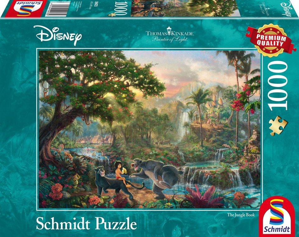 Schmidt Spiele Puzzle mit 1000 Teilen, »Disney Dschungelbuch«