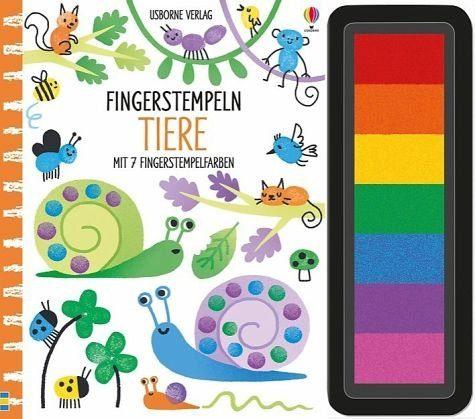 Gebundenes Buch »Fingerstempeln: Tiere«