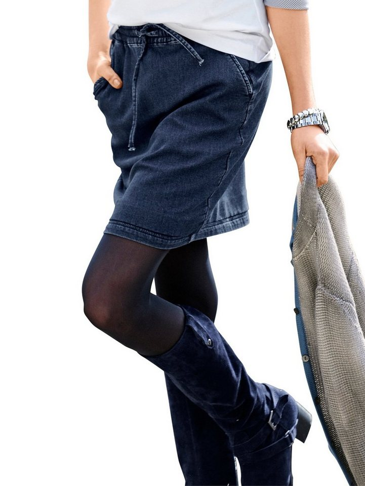 Alba Moda Sweatrock in jeansblau