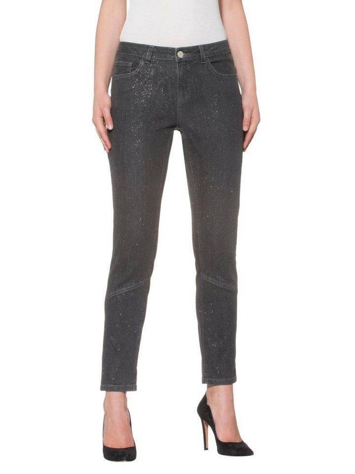 Alba Moda 5-Pocket-Hose in silber