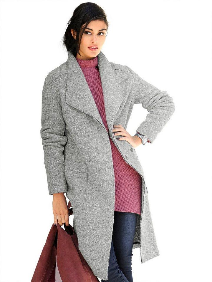 Alba Moda Mantel in grau