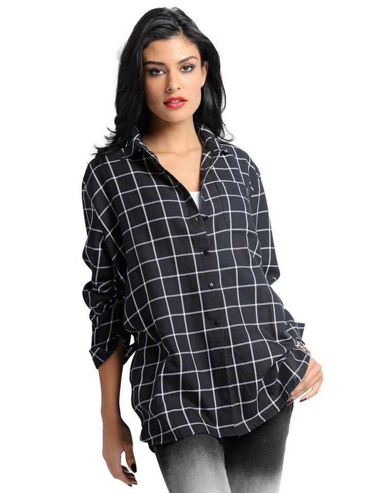 Alba Moda Bluse in schwarz/weiß