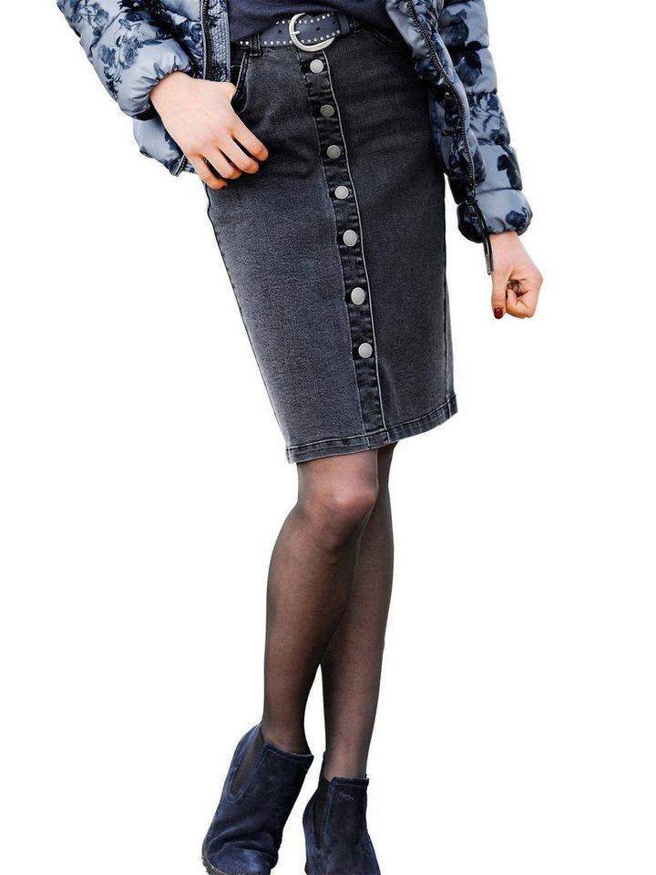 Alba Moda Jeansrock in black/denim