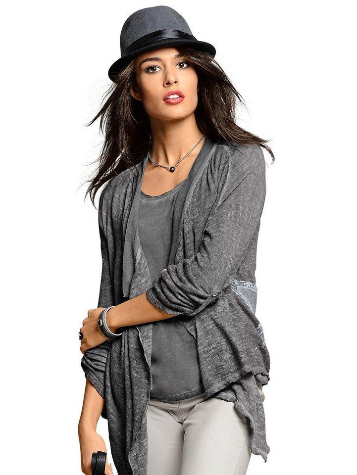 Alba Moda Shirtjacke in grau