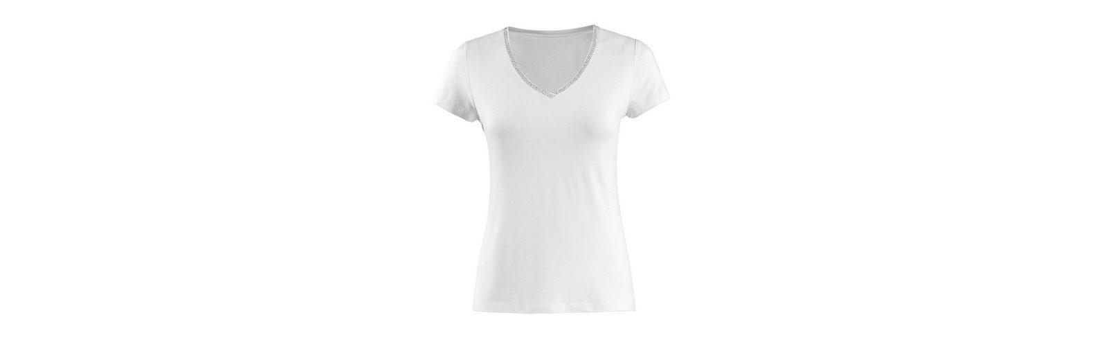 V Moda V mit Strassapplikation Alba Moda Shirt Shirt Alba EfdPfq
