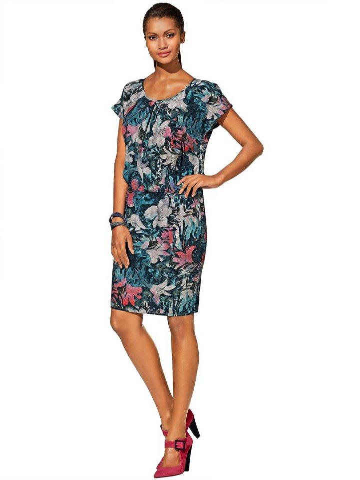 Alba Moda Kleid in blau/multi