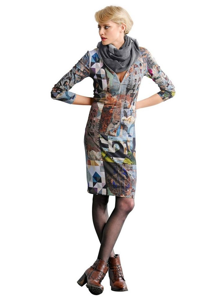 Alba Moda Jerseykleid in khakimulti