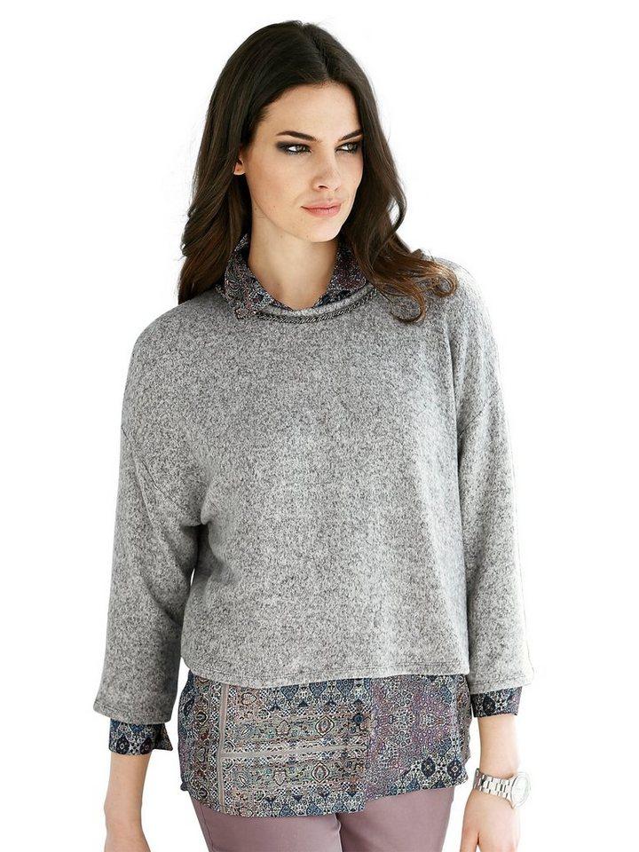 Alba Moda Pullover in graumelange