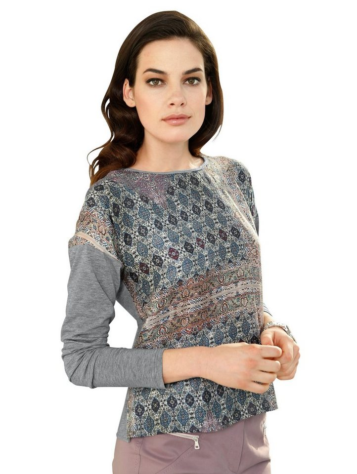 Alba Moda Shirt in grau/melange