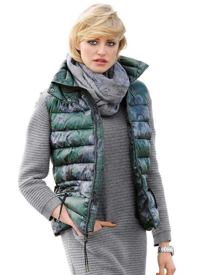 Alba Moda Steppweste in grün/.grau