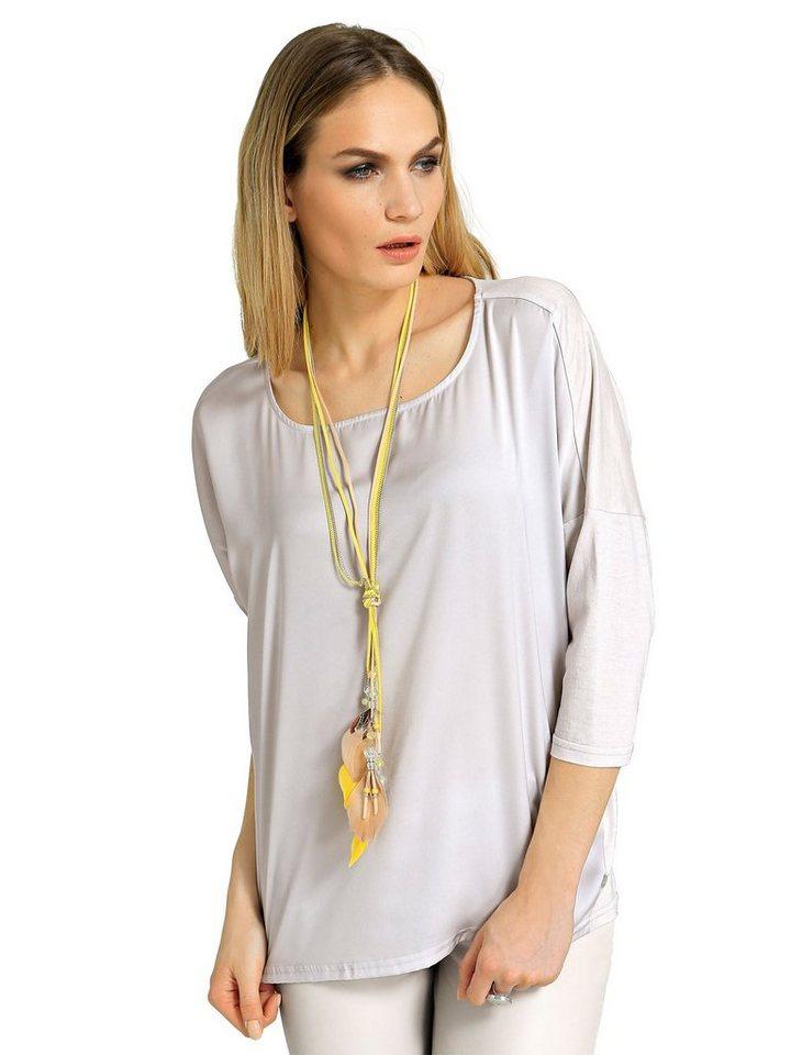 Alba Moda Oversized-Shirt in hellgrau