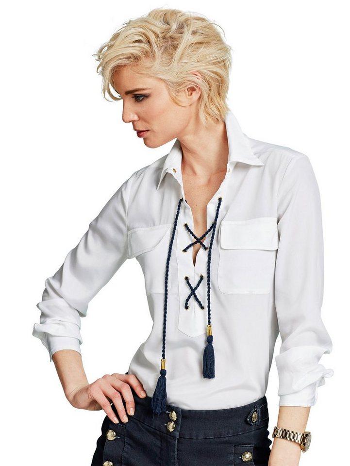Alba Moda Bluse in weiß/navy