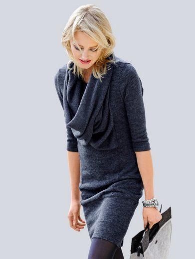 Alba Moda Strickkleid mit eingearbeitetem Loop
