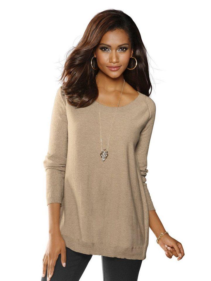 Alba Moda Pullover in camel/melange