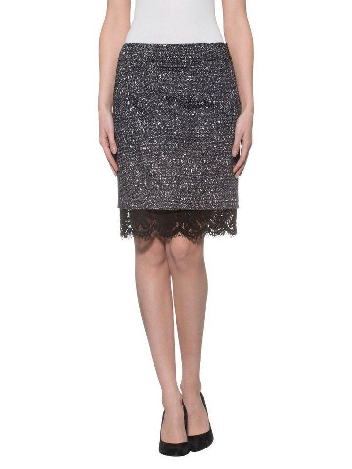 Alba Moda Druckrock in schwarz-weiß