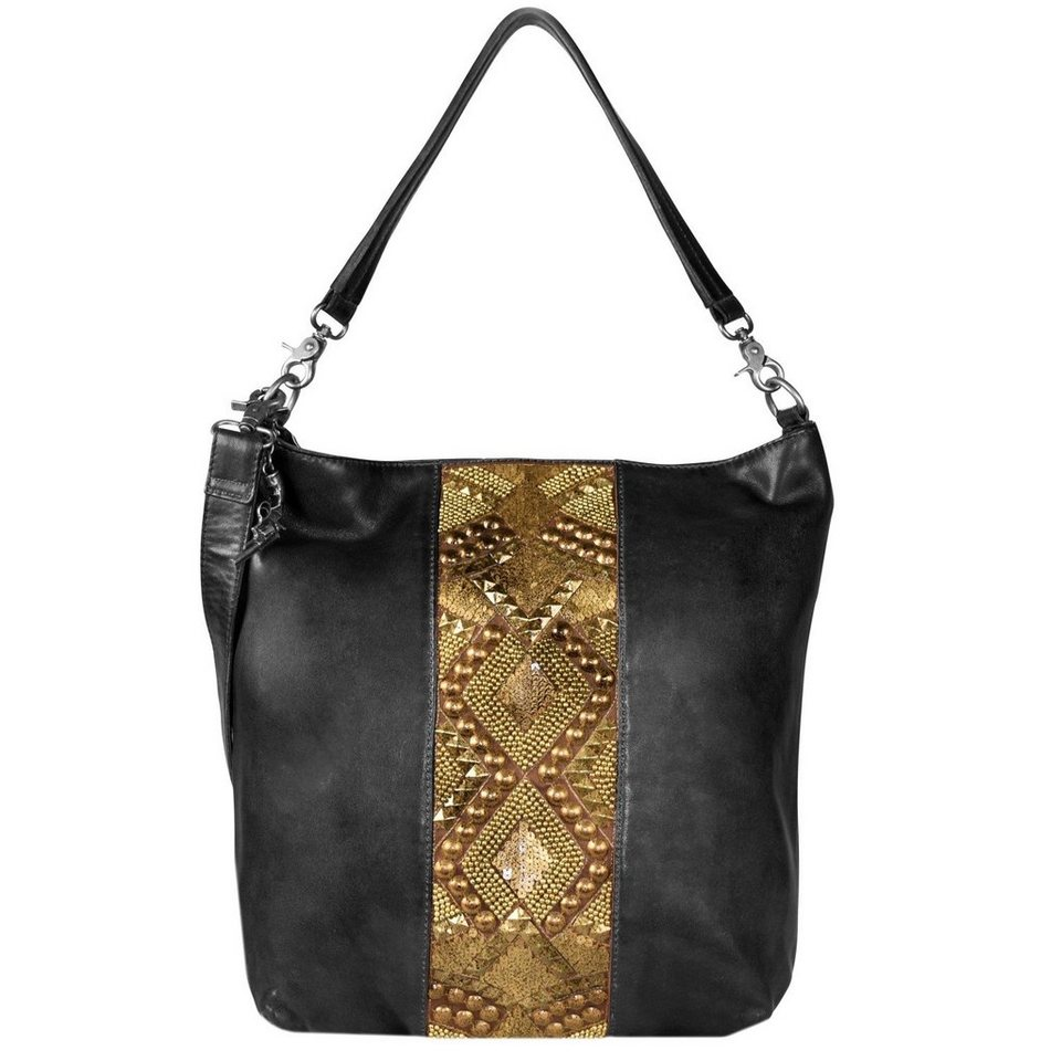 Billy the Kid Zari Shopper Tasche Leder 37 cm in black