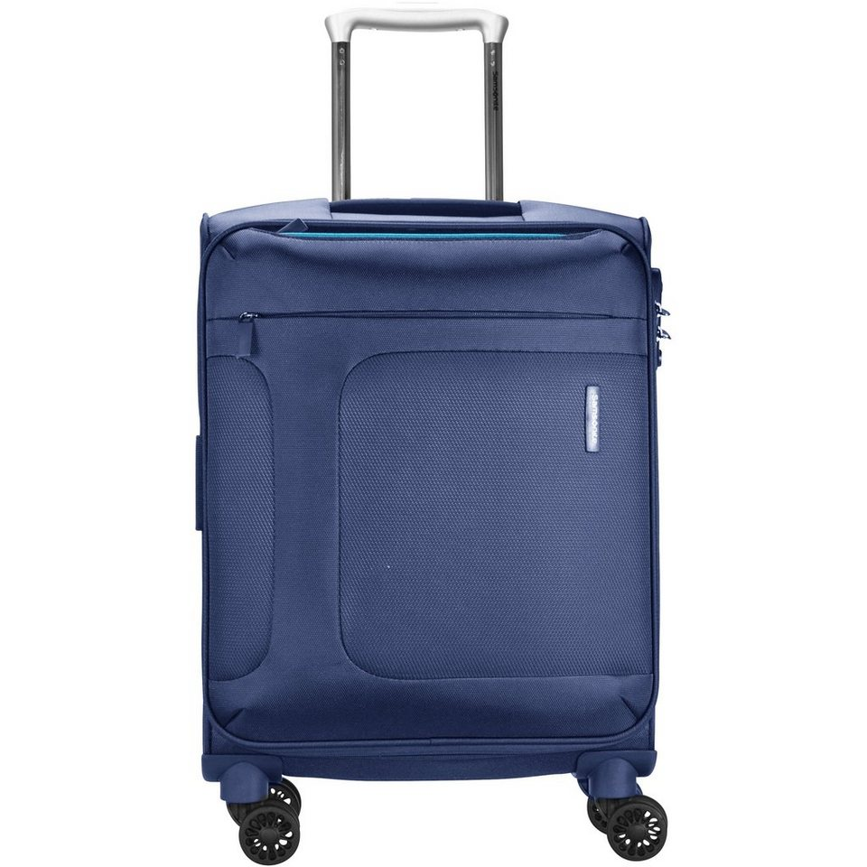 Samsonite Asphere 4-Rollen Spinner Kabinentrolley 55cm in blue light blue