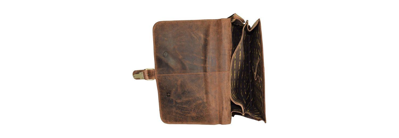 Greenburry Vintage Umhängetasche Leder 36 cm