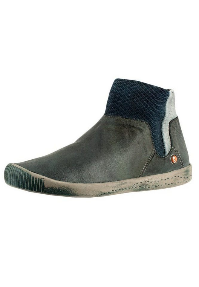 softinos klassische Stiefelette »IME335SOF washed leather« in petrol/türkis