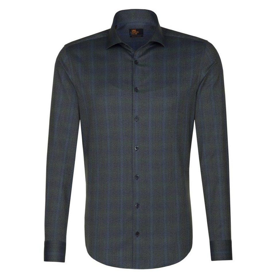 Seidensticker Businesshemd »UNO SUPER SLIM« in dunkelgrün