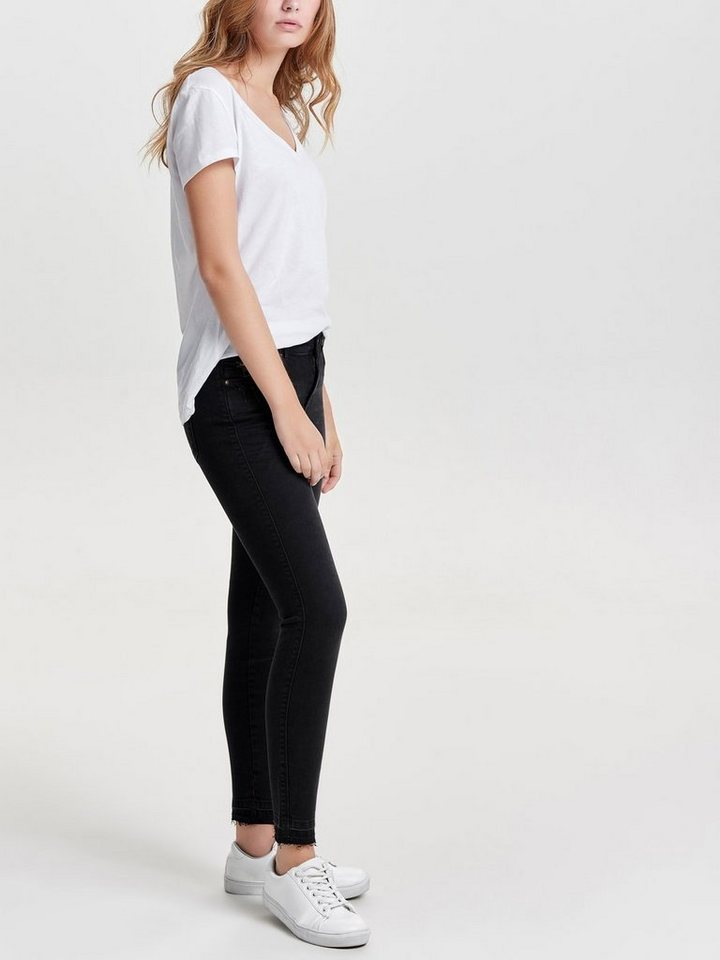 Only Coral sl Ankle Skinny Fit Jeans in Black