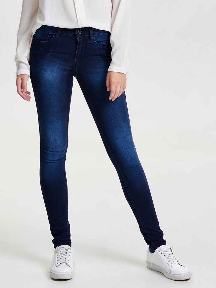 Only New reg. soft ultimate Skinny Fit Jeans in Dark Blue Denim