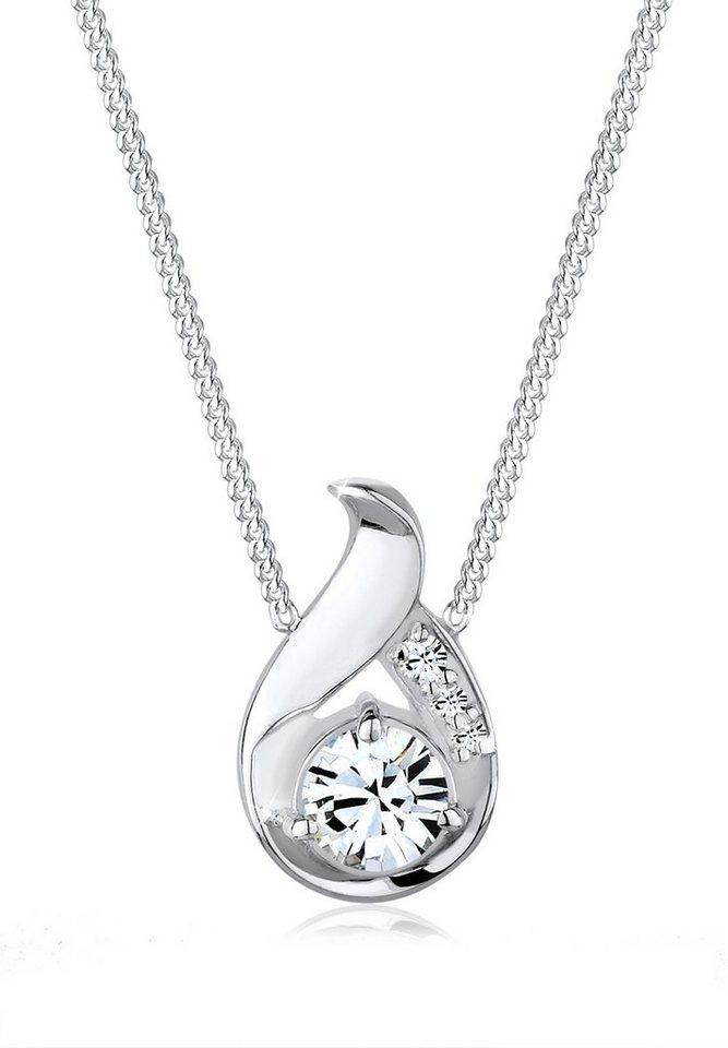 Elli Halskette »Drop Swarovski® Kristalle 925 Sterling Silber« in Weiß