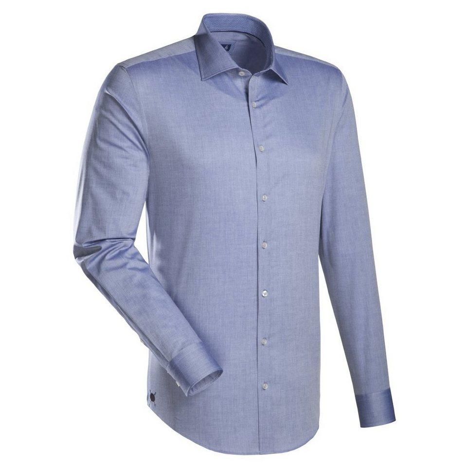 Jacques Britt Businesshemd »Blue Label« in dunkelblau