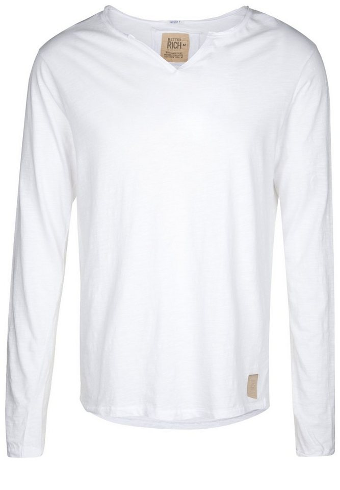 Better Rich Longsleeve »DIVIDE« in white