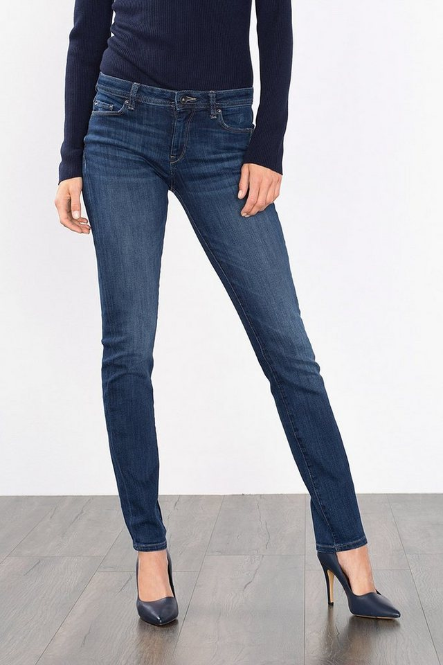 ESPRIT CASUAL Perfect-Po-Denim mit hohem Stretchanteil in BLUE MEDIUM WASHED