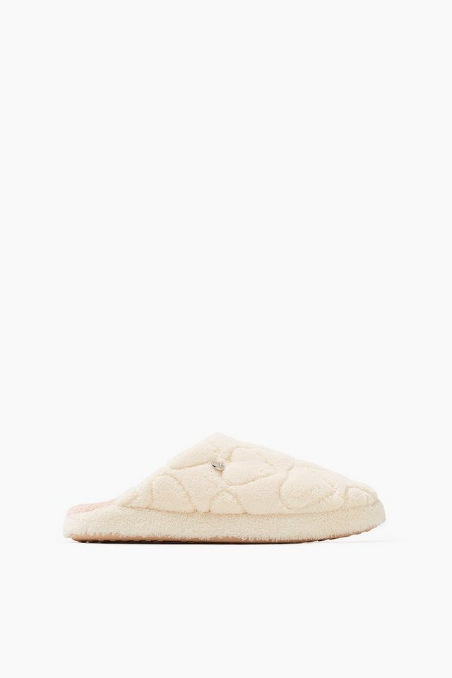 ESPRIT CASUAL Home Slipper mit Herz-Musternähten in OFF WHITE