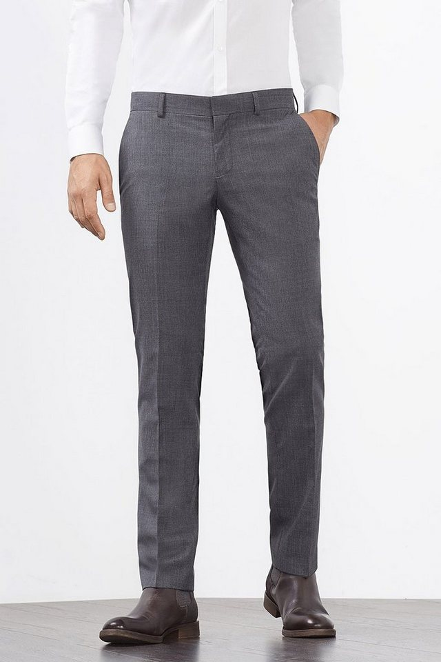 ESPRIT COLLECTION Woll-Mix Hose mit Hahnentrittmuster in GREY