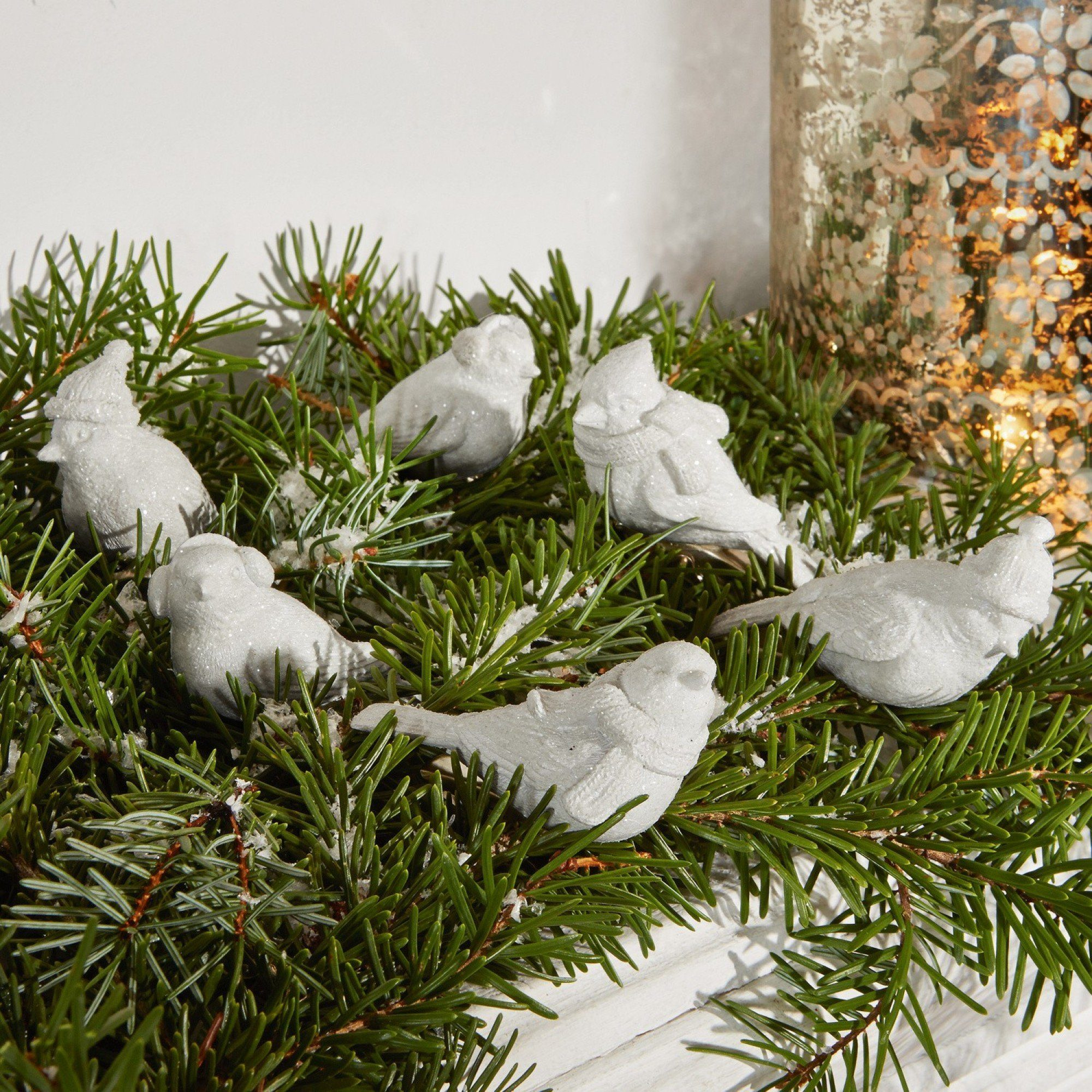 Loberon Deko-Vögel 6er Set »Birdies«