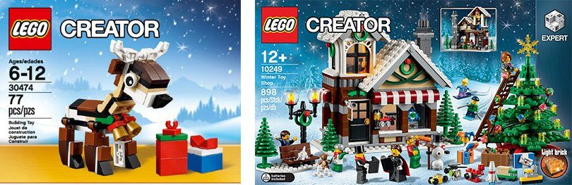 LEGO® Set Spielzeugladen (10249) + Rentier (30474), »LEGO® Creator«