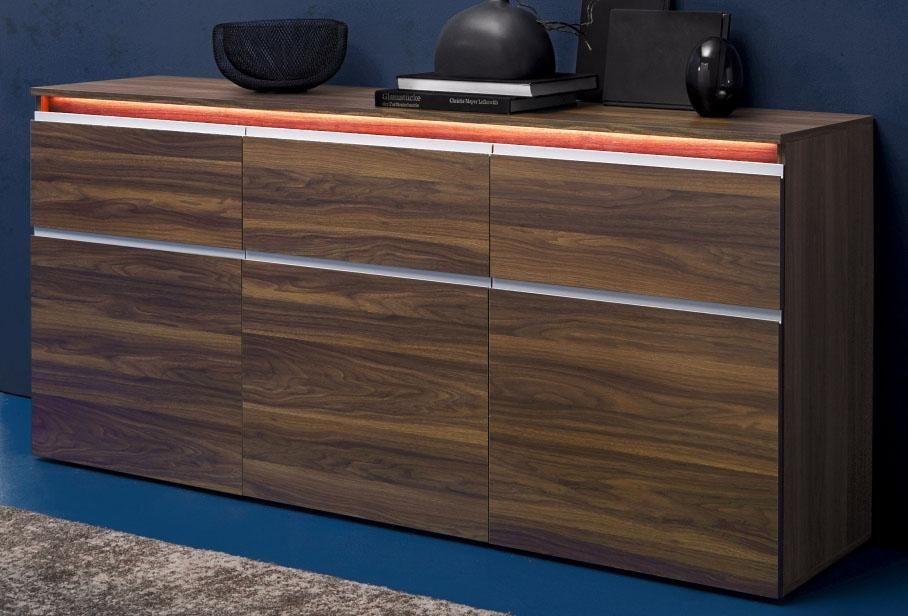 Tecnos Sideboard, Breite 180 cm in Amerikanisch nussbaumfarben