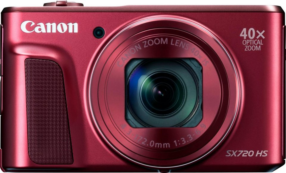 Canon Power Shot SX720 HS Kompakt Kamera, 20,3 Megapixel, 40x opt. Zoom, 7,5 cm (3 Zoll) Display in rot